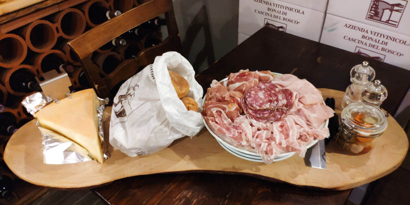 Selection of cold cuts from Bergamo
