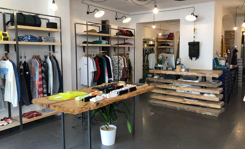 wooden clothes store